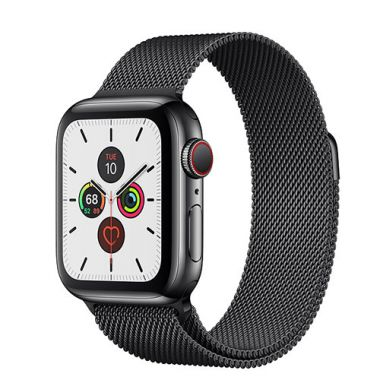 Apple Watch Series 5 Stainless Steel Black Milanese - LTE (E-sim ok)