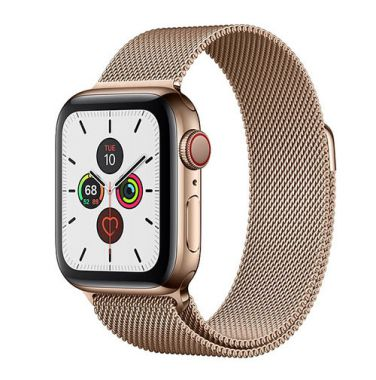 Apple Watch Series 5 Stainless Steel Gold Milanese - LTE (E-sim ok)