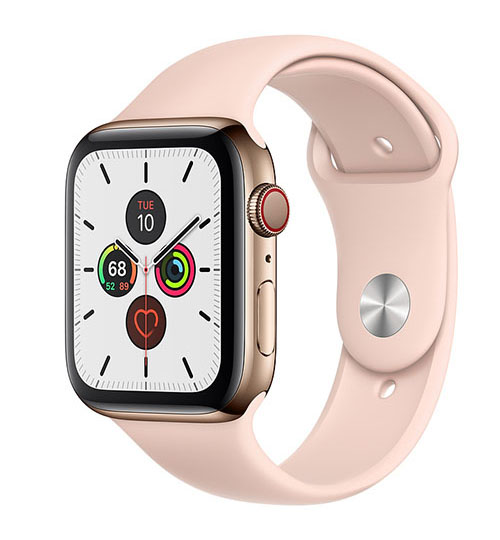 Apple Watch Series 5 Stainless Steel Gold Sport - LTE (E-sim ok)